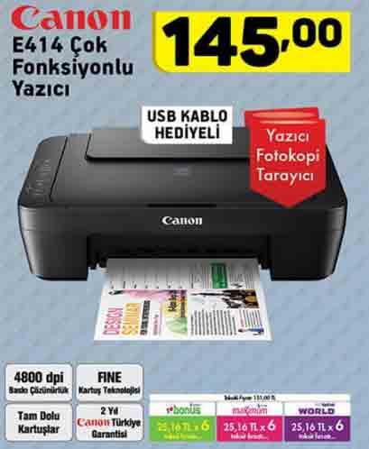 canon e414 cok fonksiyonlu yazici a101 - A101 aktüel, 25 Ocak 2018 Perşembe ürün broşürü ve kataloğu