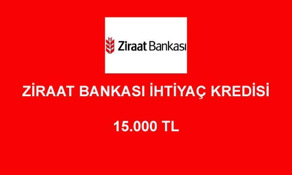 ziraat bankasi kredi hesaplama 15000 600x360 - Ziraat Bankası 15000 TL İhtiyaç Kredisi Hesaplama