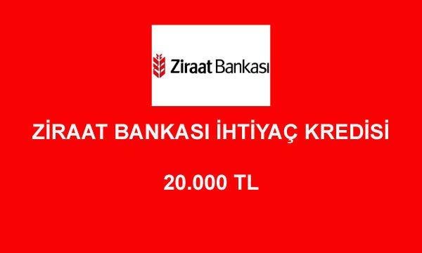 ziraat bankasi kredi hesaplama 20000 600x360 - Ziraat Bankası 20000 TL İhtiyaç Kredisi Hesaplama