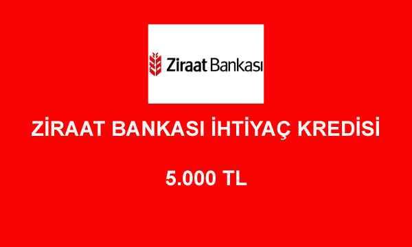 ziraat bankasi kredi hesaplama 5000 1 - Ziraat Bankası 5000 TL İhtiyaç Kredisi Hesaplama